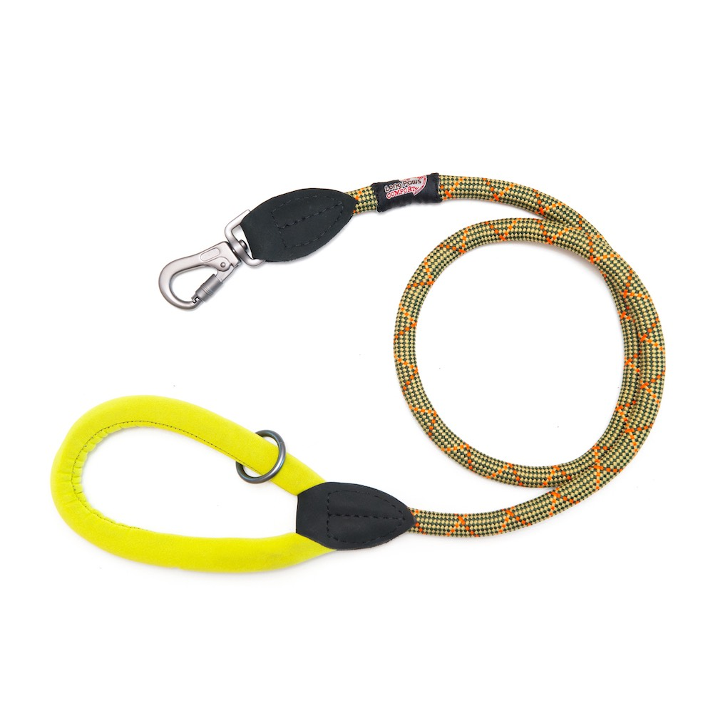 Long Paws Comfort Rope Leash Green 110cm / 44in  Image