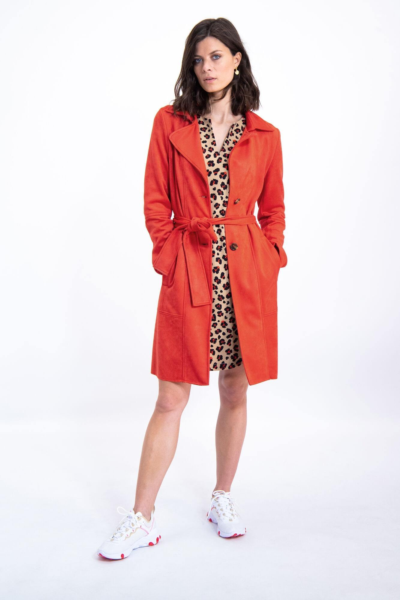 GARCIA BROWN DRESS WITH LEOPARD PRINT Image