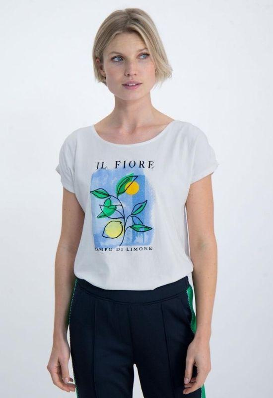 WHITE GARCIA T-SHIRT WITH IL FIORE Image