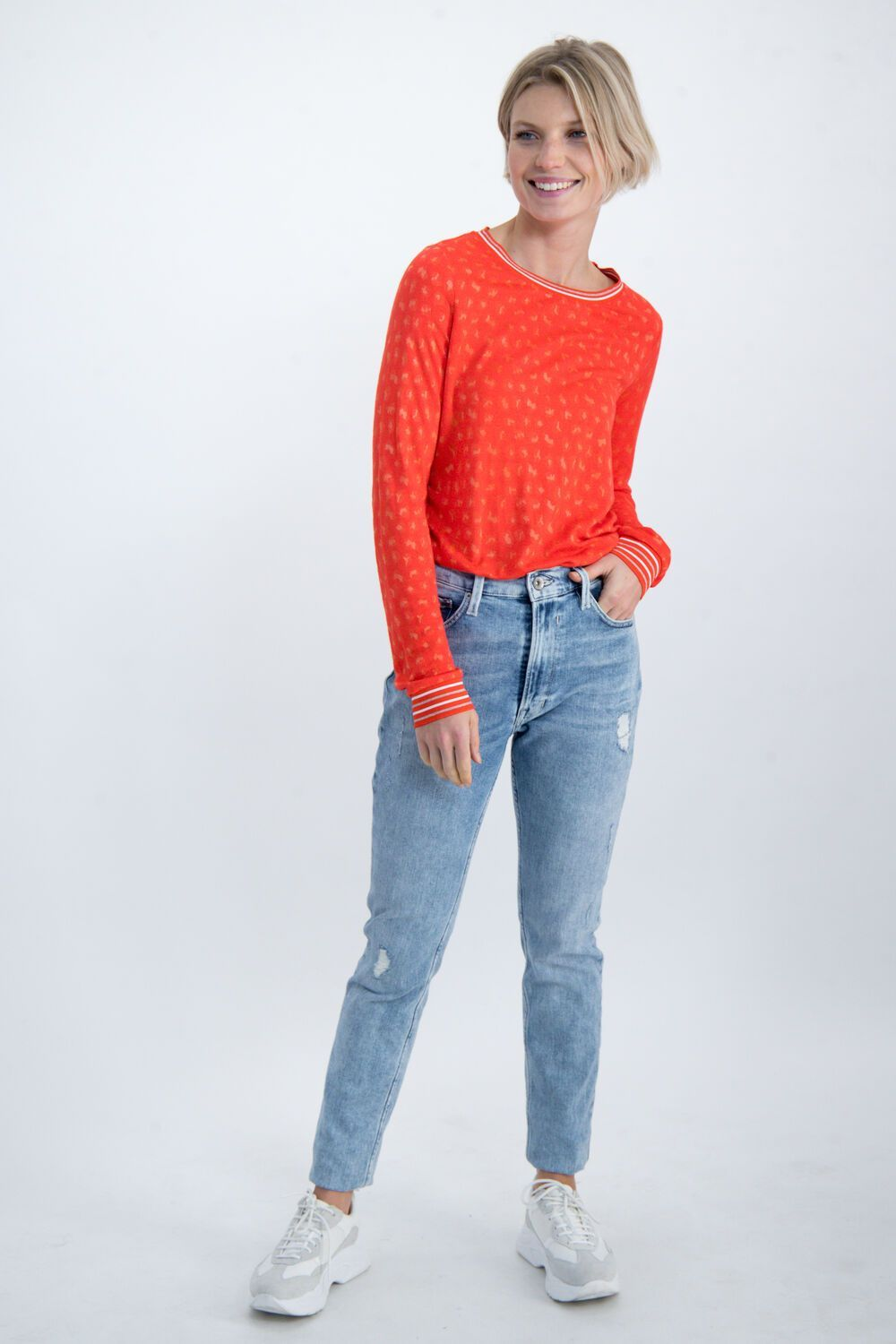 RED GARCIA BLOUSE WITH WOVEN PATTERN Image
