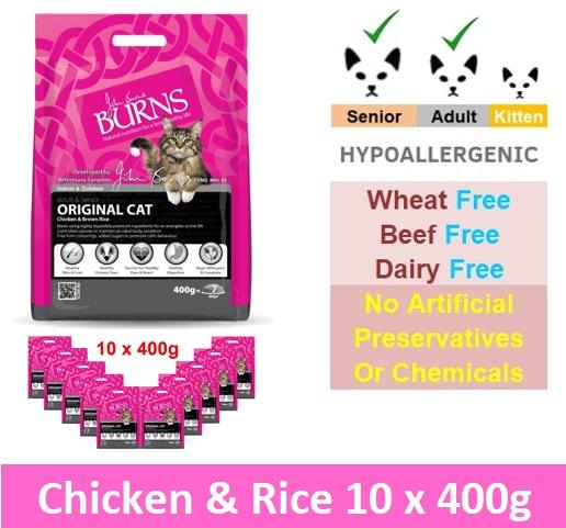 BURNS ORIGINAL CAT CHICKEN & BROWN RICE (10 x 400gG) Image