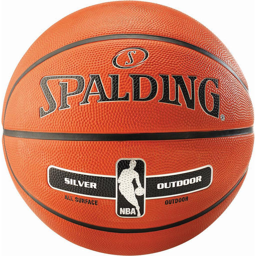 Spalding Silver Basketball Image