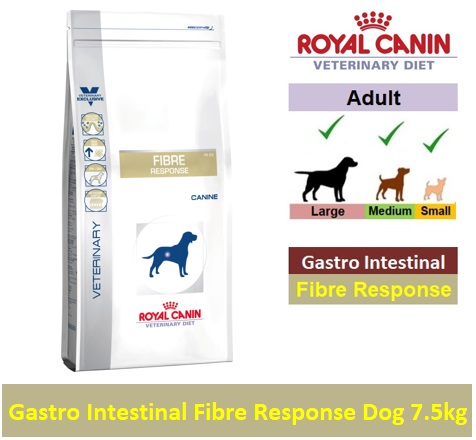 Royal Canin Veterinary Diet Gastro Intestinal Fibre Response Dog 7.5kg Image