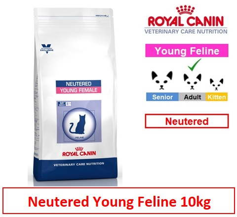 Royal Canin Veterinary Care Nutrition Neutered Young Female Cat 10kg Image