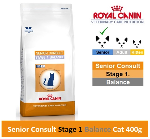 Royal Canin Veterinary Care Nutrition Senior Consult Stage 1 Balance Cat 400g Image