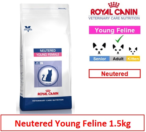 Royal Canin Veterinary Care Nutrition Neutered Young Female Cat 1.5kg Image