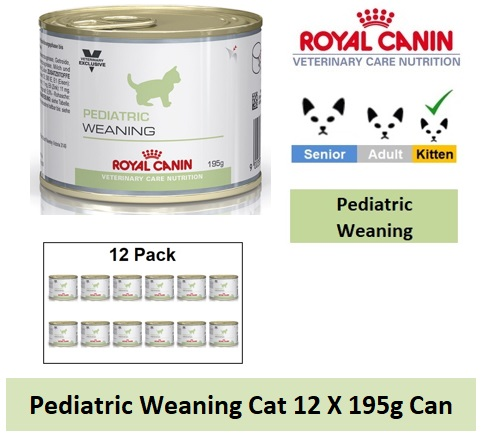 Royal Canin Veterinary Care Nutrition Pediatric Weaning Cat 12 X 195g Can Image
