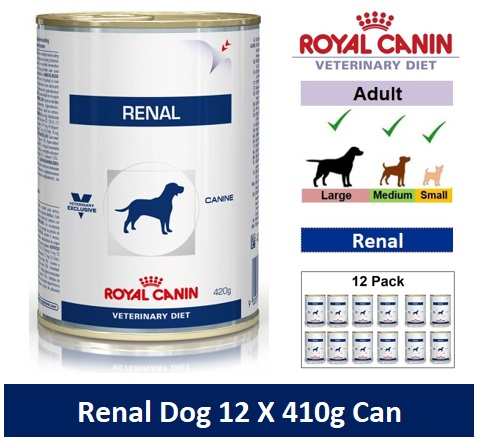 Royal Canin Veterinary Diet Renal Dog 12 X 410g Can Image