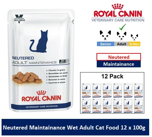 Royal Canin Veterinary Care Nutrition Neutered Maintainance Wet Cat Food 12 x 100g