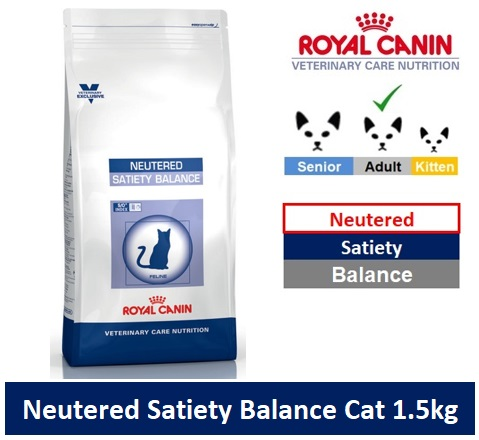 Royal Canin Veterinary Care Nutrition Neutered Satiety Balance Cat 3.5kg Image