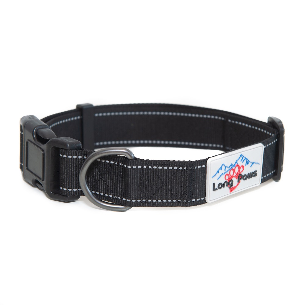 Long Paws Urban Trek Reflective Collar, Black, Medium