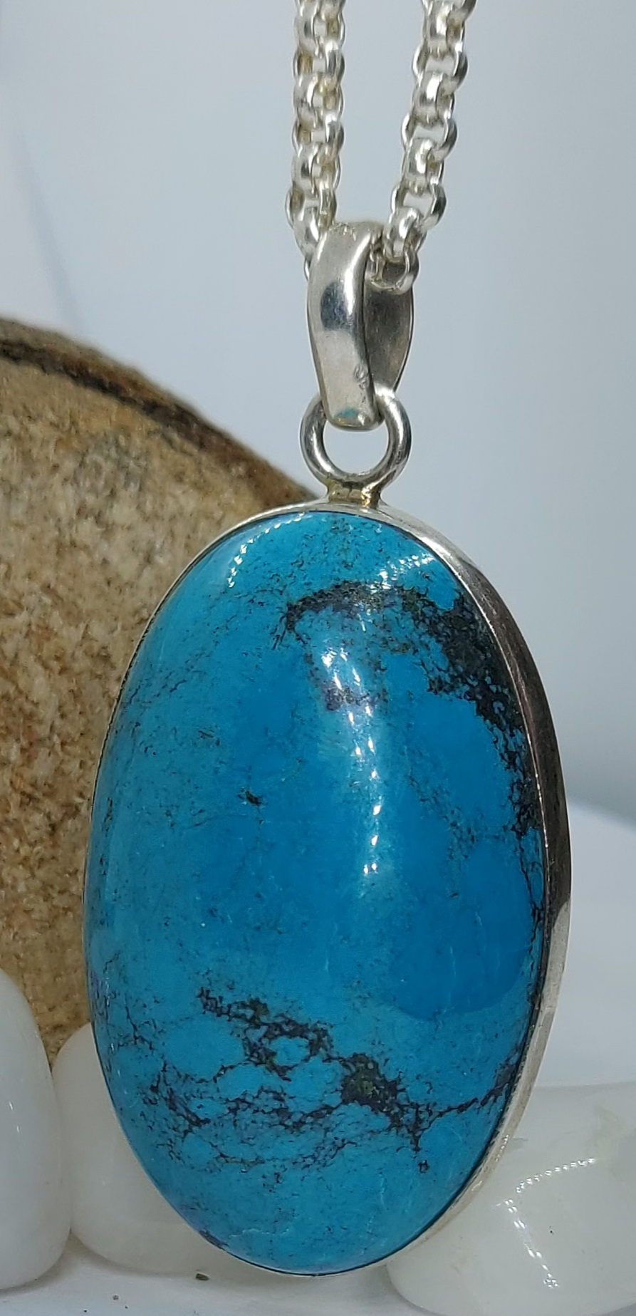 Sterling Silver Statement Turquoise Pendant  Image