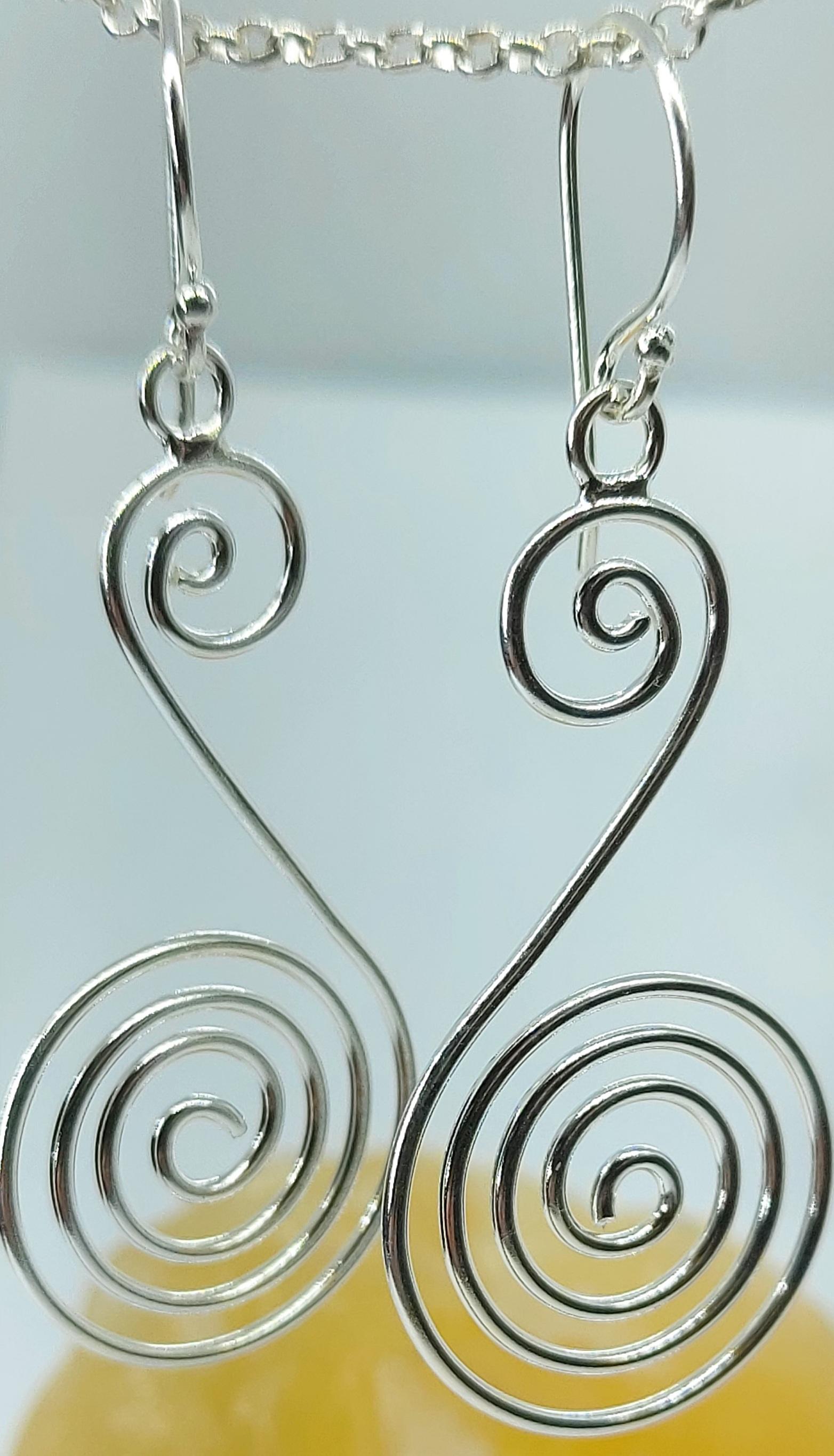 Sterling Silver Swirl Earrings  Image