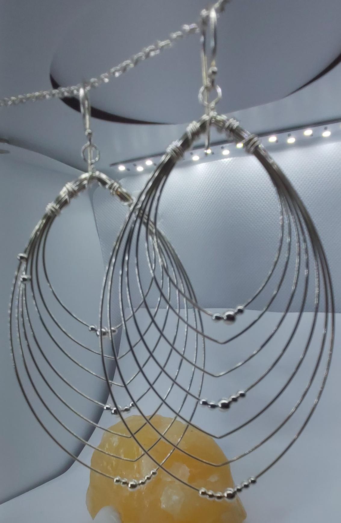 Sterling Silver Statement Earrings  Image