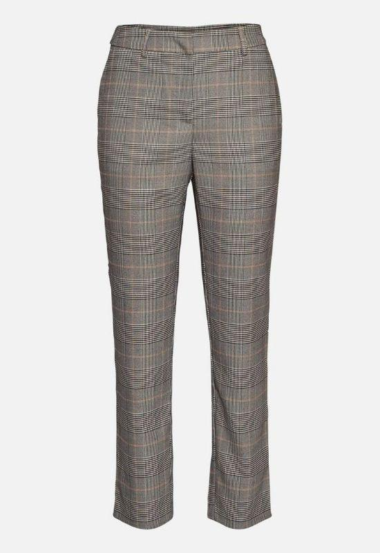 MOSS COPENAHGEN GREY TROUSERS IN CHECK Image