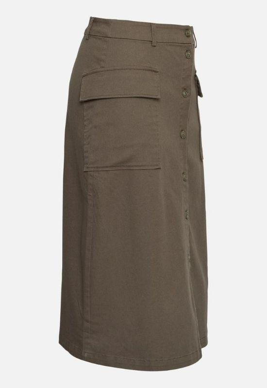 MOSS COPENHAGEN SKIRT WITH SIDE POCKETS & FRONT BUTTONS Image
