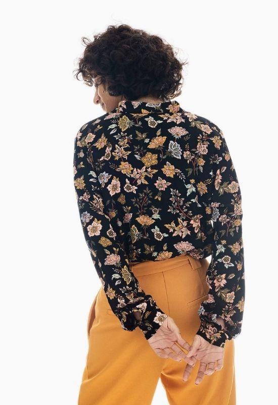 GARCIA BLACK SHIRT WITH ALLOVER FLOWER PRINT Image