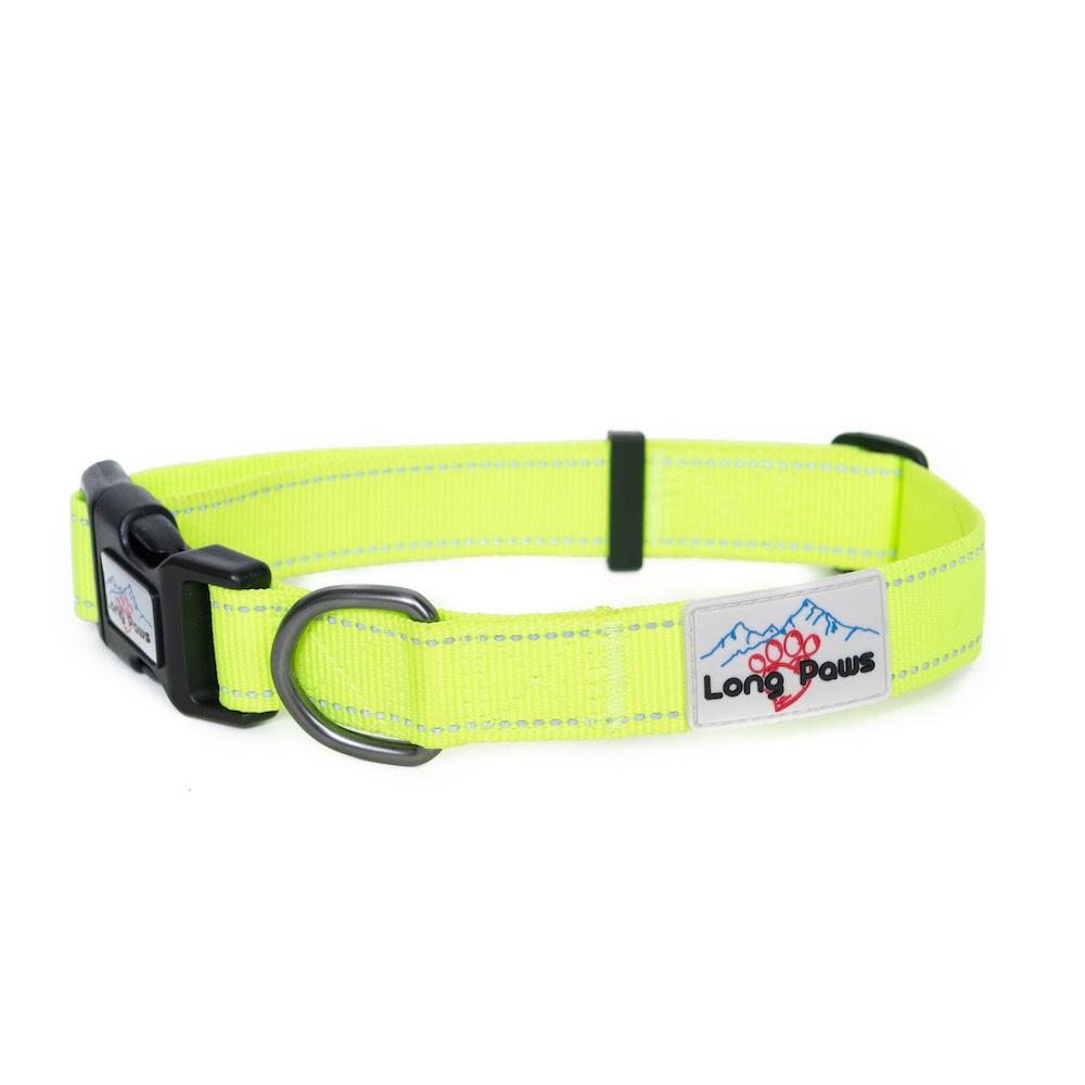 Long Paws Urban Trek Reflective Collar, Neon Yellow,  Small Image