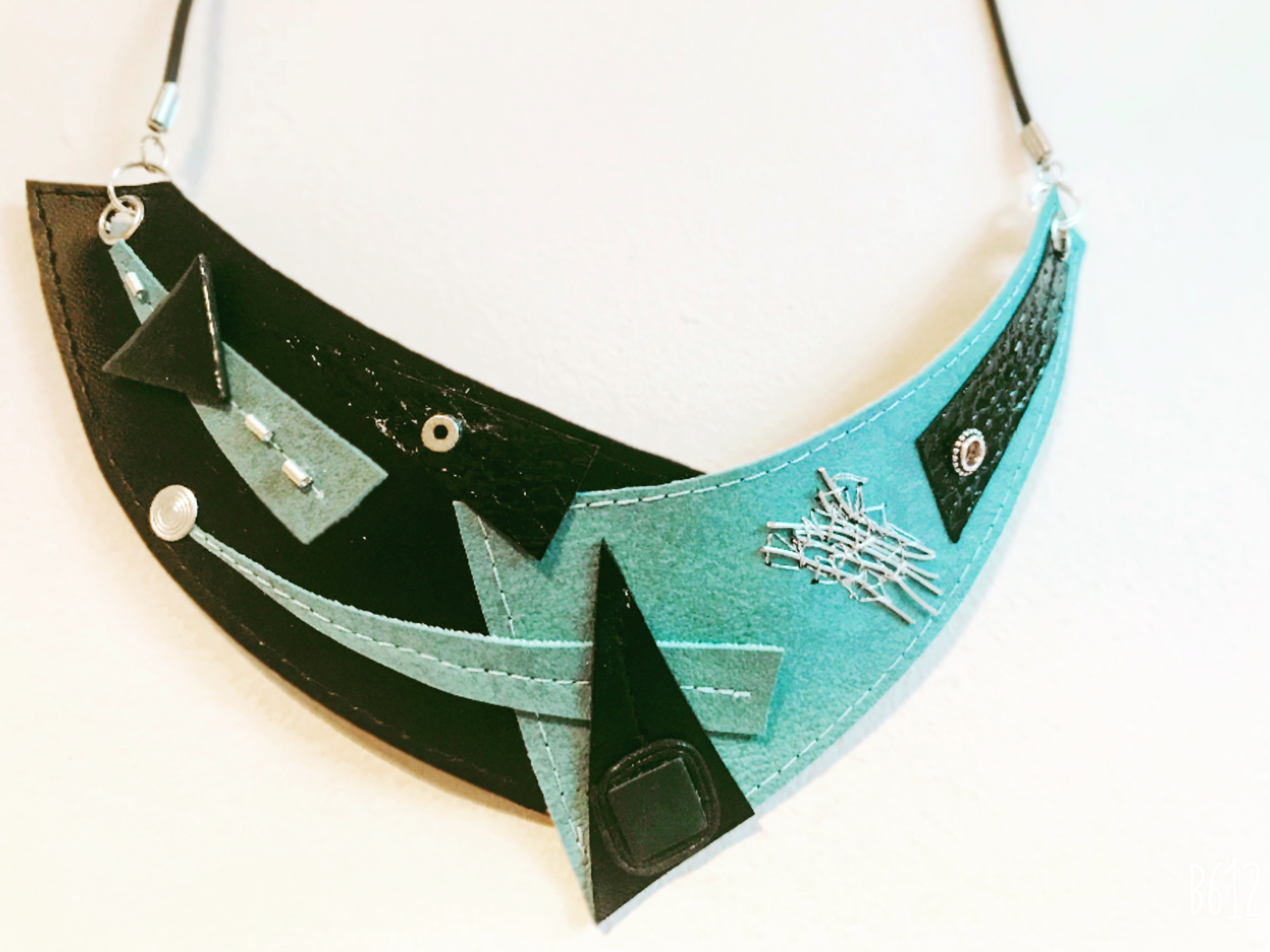 Faux leather necklace Image