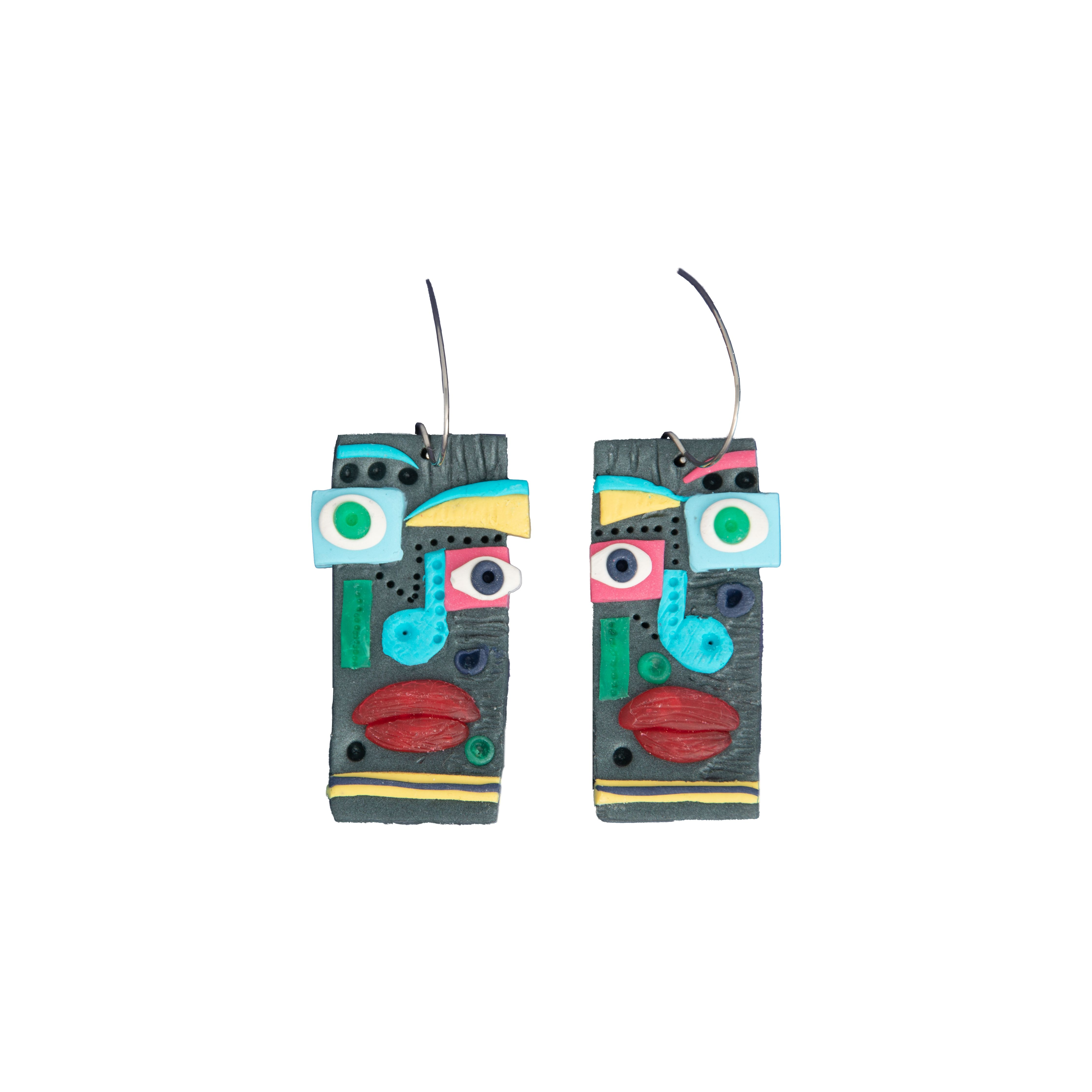 Funky polymer clay earrings Image