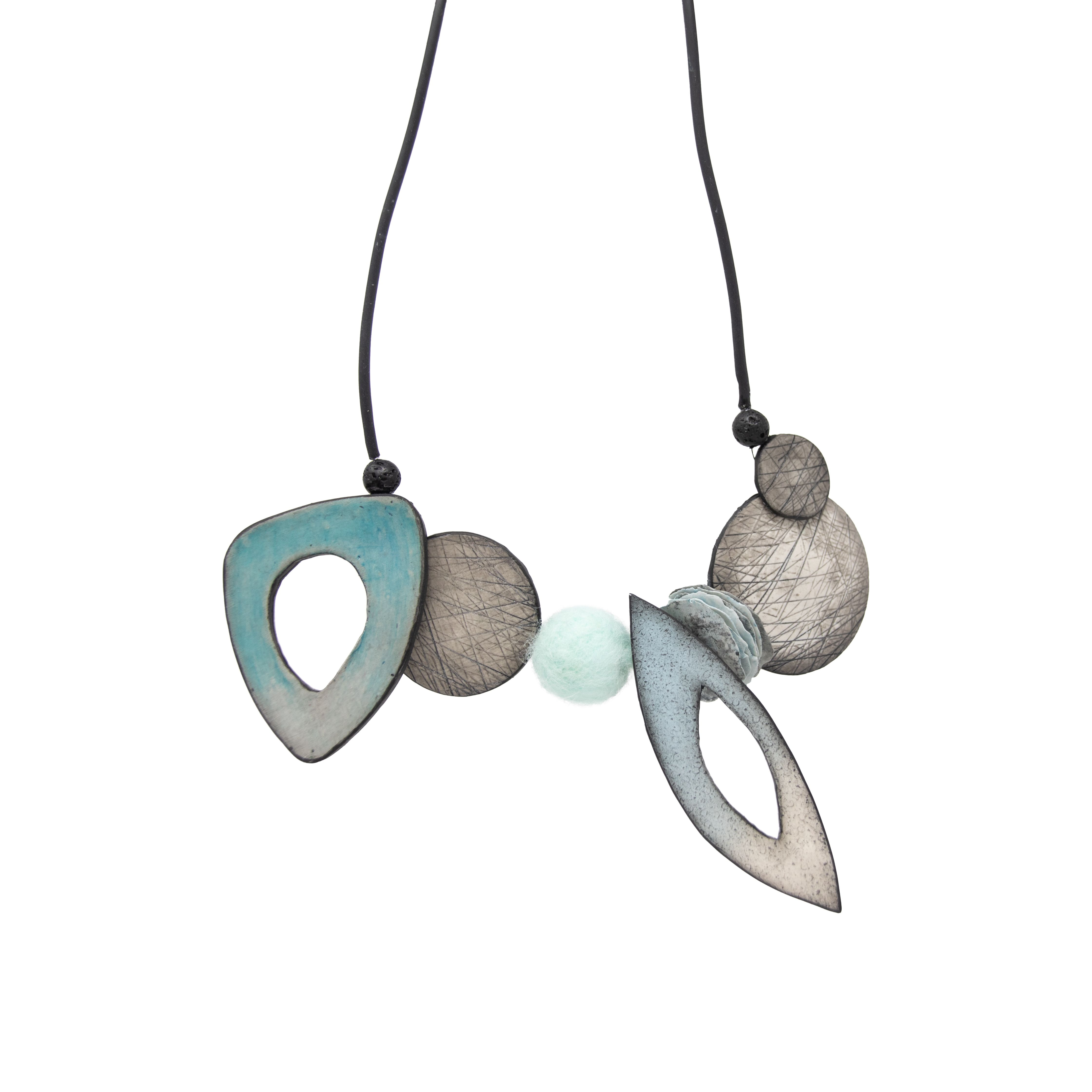 Organic style polymer clay necklace Image