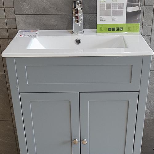 Turin Grey 600 Floor Standing Vanity Unit Image