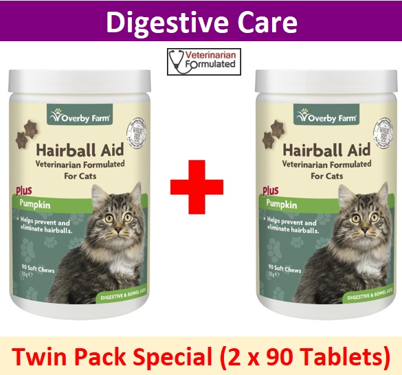 Double Pack Hairball Aid For Cats Soft Chews 90pcs Image