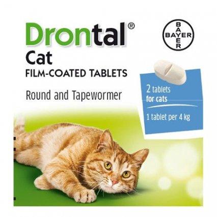 Drontal Plus (Cat) 4 Pack. Image
