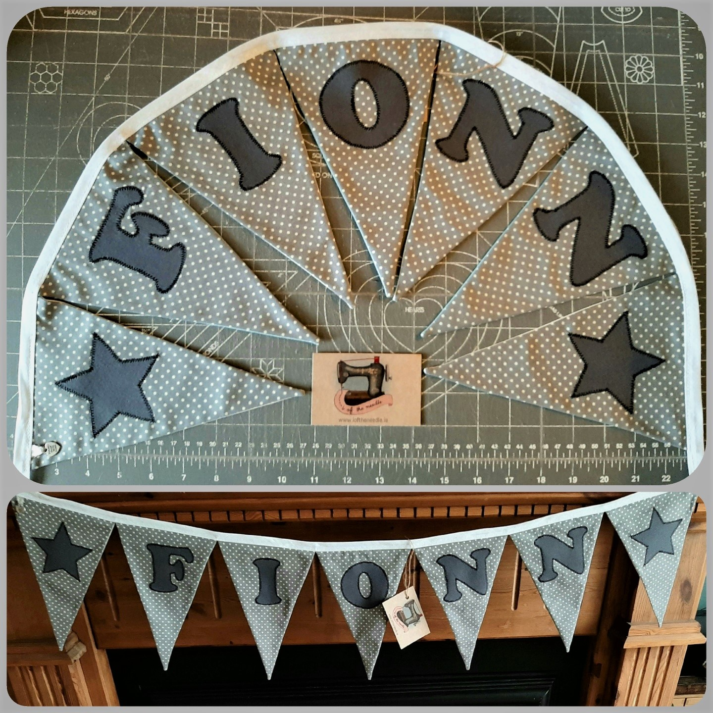 Personalised Bunting  FIONN with Star Motifs Image