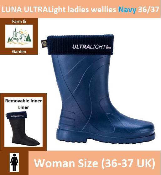 LUNA ULTRALight ladies wellies 36/37 Navy Image