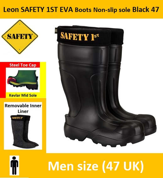 Leon SAFETY 1ST EVA Boots Non-slip sole Black 47 (12.5/13 US) Image