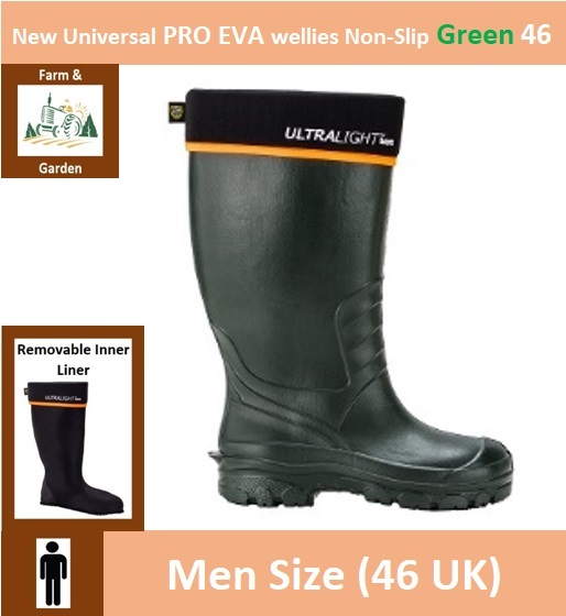 New Universal PRO EVA wellies Non-Slip 46 Green Image