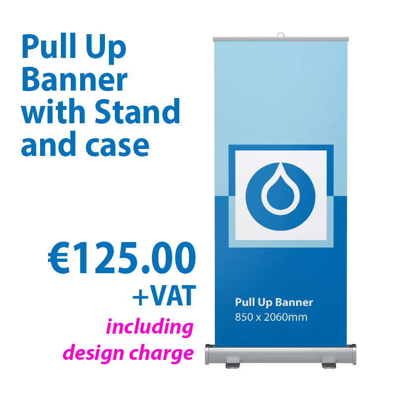 Pull Up Banner with Stand & case Image