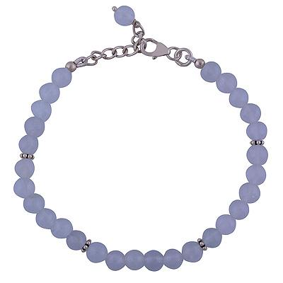 Sterling Silver & Aquamarine Bracelet  Image