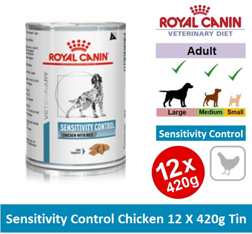 BY23X VHN CANINE SENSITIVITY CONTROL CHICKEN 12X420G