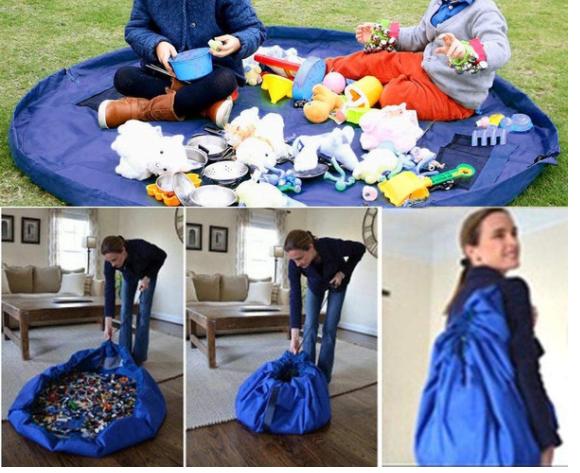 Portable Kids Toy Storage  Drawstring Bag  Image