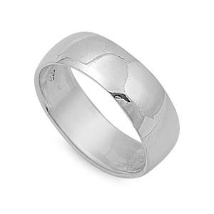 Sterling Silver Wedding Band Ring Image