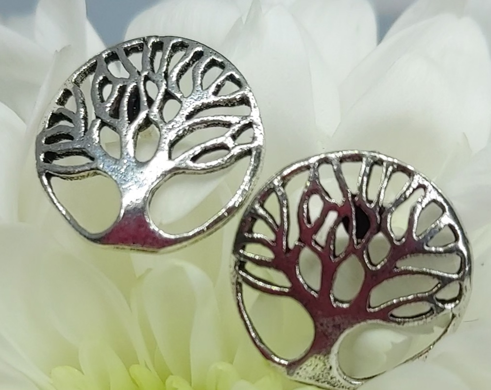 Sterling Silver Tree of Life Studs  Image