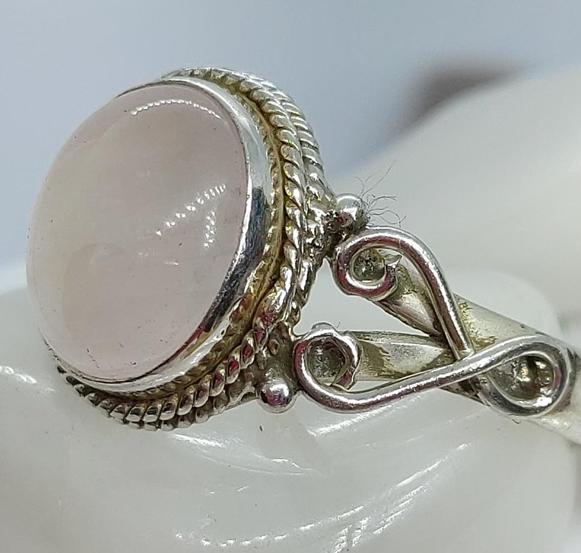 Sterling Silver Rose Quartz size 12 Image
