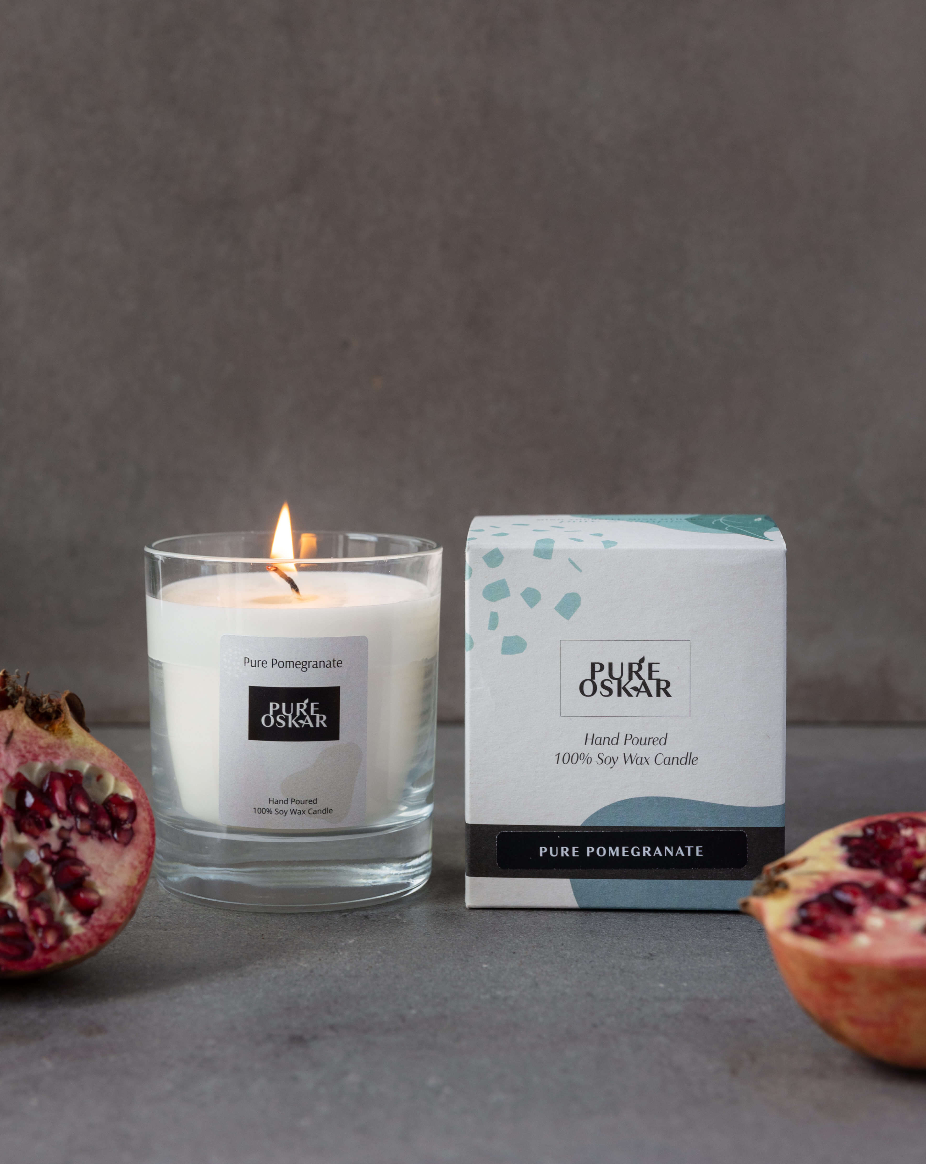 Soy Candle Pure Pomegranate Image