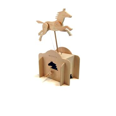 PATHFINDERS JUMPING HORSE WOODEN KIT Image