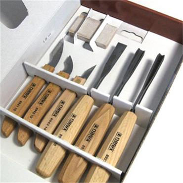 NAREX 6 PIECE SET OF CARVING CHISELS WOODLINE STANDARD 894610 Image