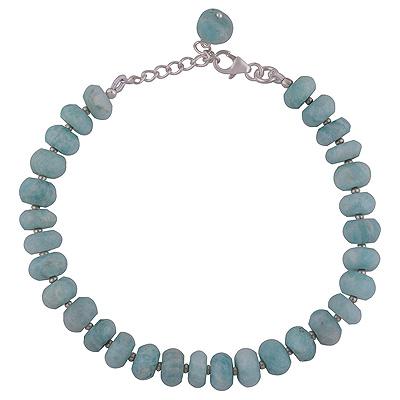 Sterling Silver & Amazonite Gemstone Bracelet  Image