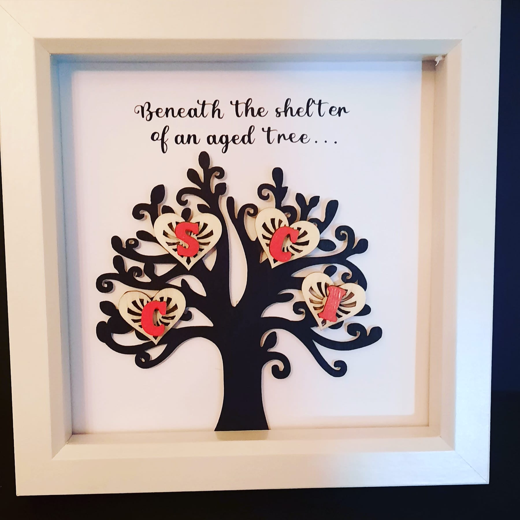 Personalised family tree frame Image