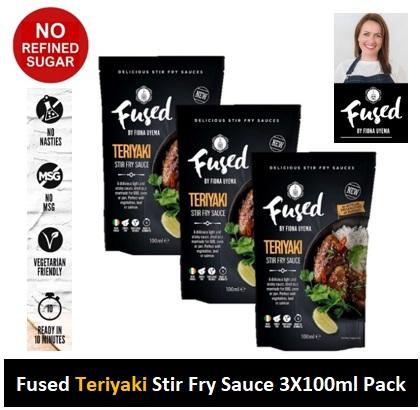 Fused Teriyaki Stir Fry Sauce 100ml 3 PACK Image