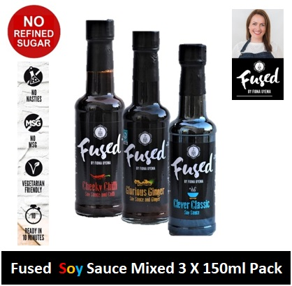 Fused Soy Sauce Mixed 150ml 3 Pack Image