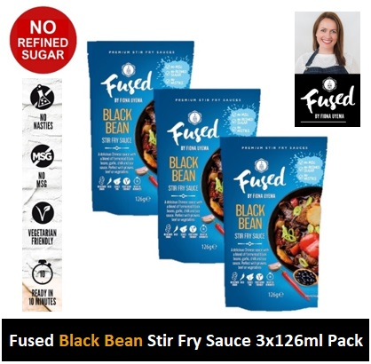 Fused Black Bean Stir Fry Sauce 126g 3 PACK Image