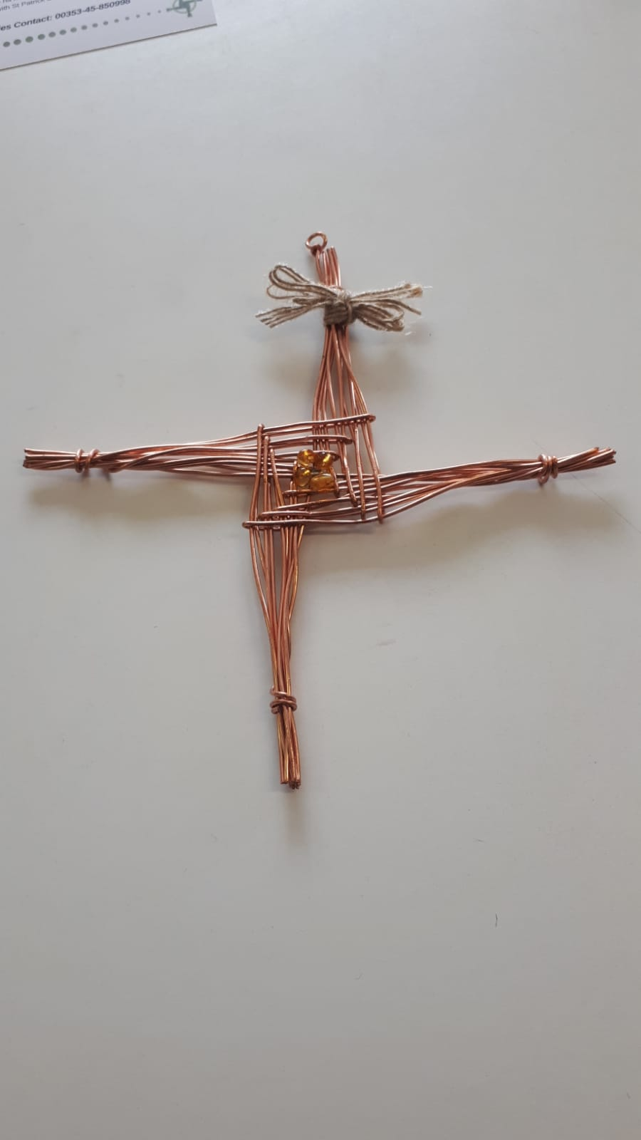 ST Brigid Cross Made from recycled Copper Image