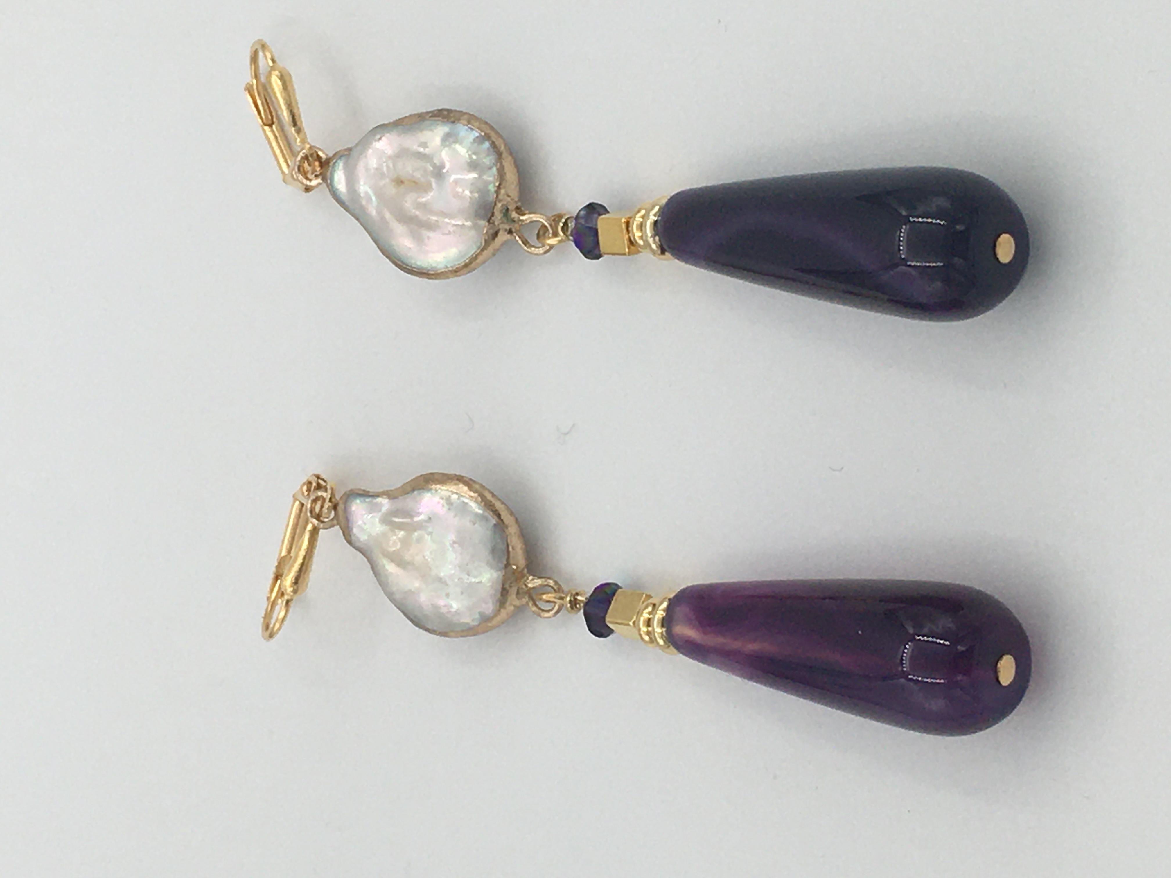 Jade Freshwater Pearls, Swarovski Crystals - Earrings Image