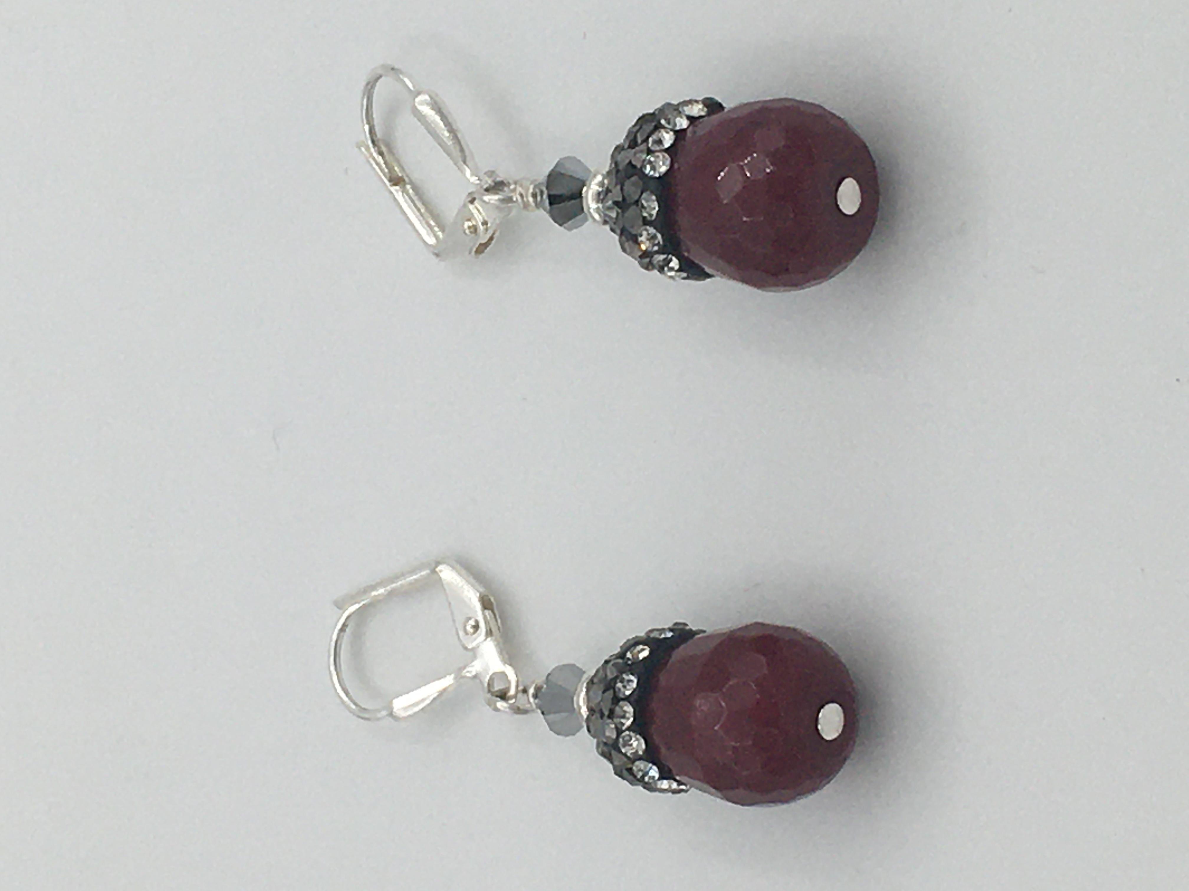 Jade Swarovski Crystals - Earrings Image